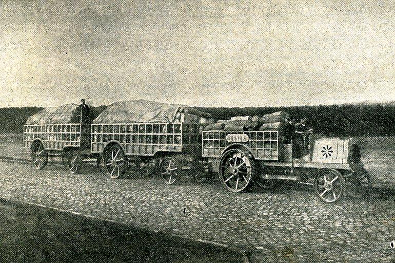1903 NAG Durch-Lastzug 1903 (Konstruiert von Kühlstein + Joseph Vollmer) Train automobile