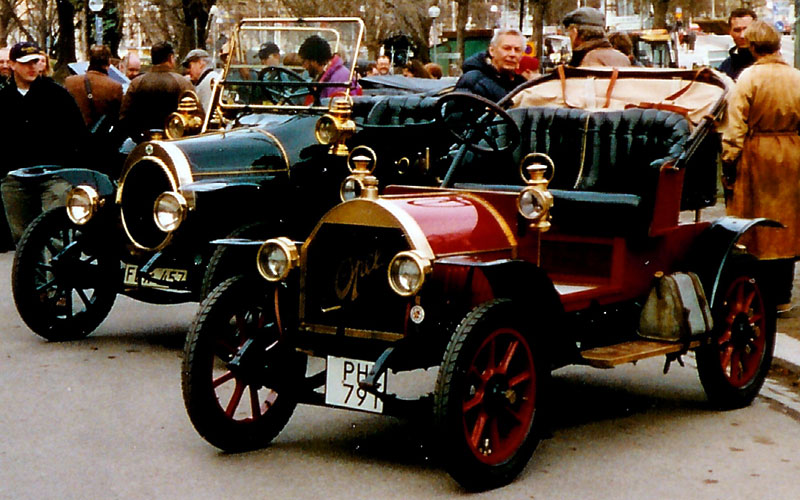 1910 N.A.G. Darling K2 6-18 PS Doppelphaeton 1912 and Opel 4-8 PS Doktorwagen Zweisitzer 1910