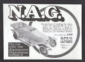 1913 NAG Rennwagen Ad