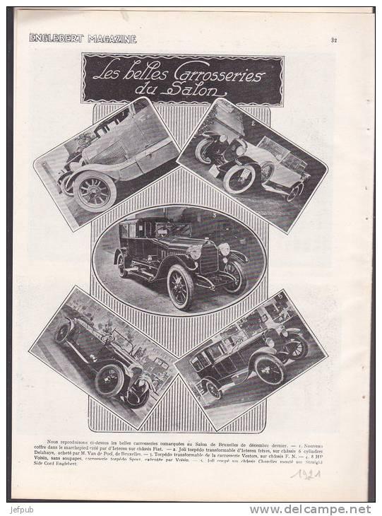 1921 6016 AUTOMOBILIA -SALON BELGE D´AUTOMOBILE 1921 -NAGANT-MINERVA-EXCELSIOR