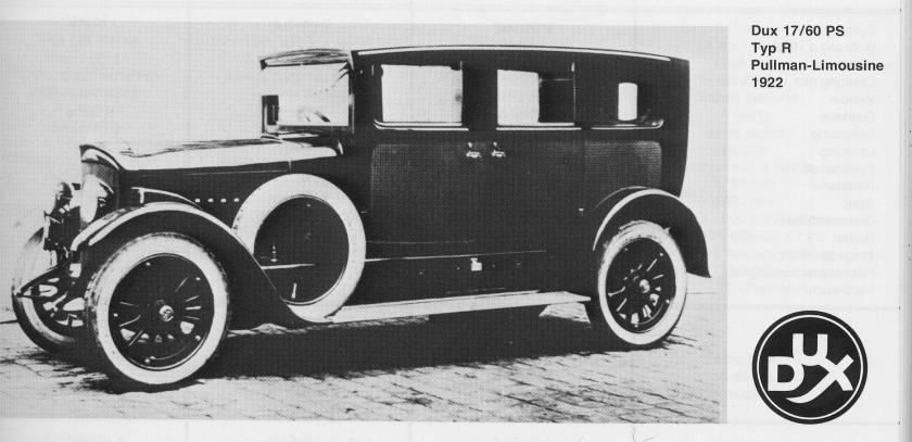 1922 Dux Auto 17-60ps Typ R Pullman-Limousine