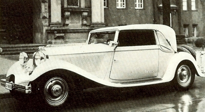 1932 NAG 212 Cabriolet, which was fitted with a 4540cc V8 engine