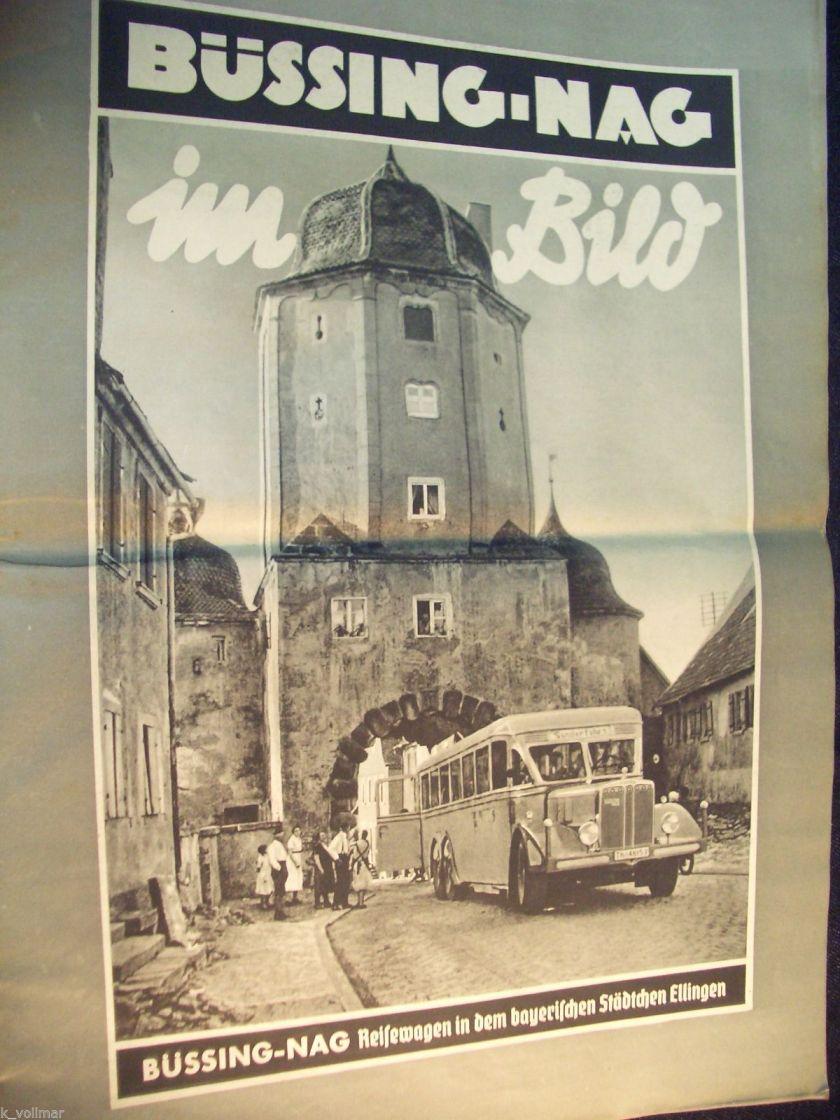 1935 Zeitung von1935 Büssing NAG im Bild LKW Bus Trambus Wagen Auto Nutzkraftwagen