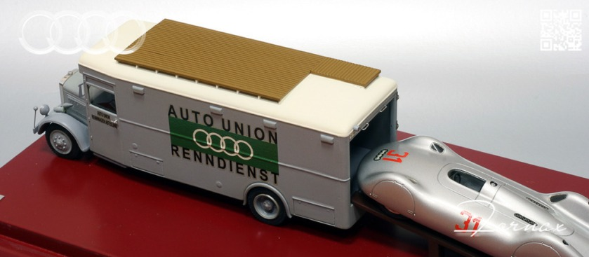 1937 Auto Union Rennwagen Typ C AVUS, 1934 Büssing NAG Typ 300 made by EMC-Models-AAM Boyer.