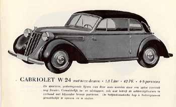1938 Wanderer W24 Cabriolet