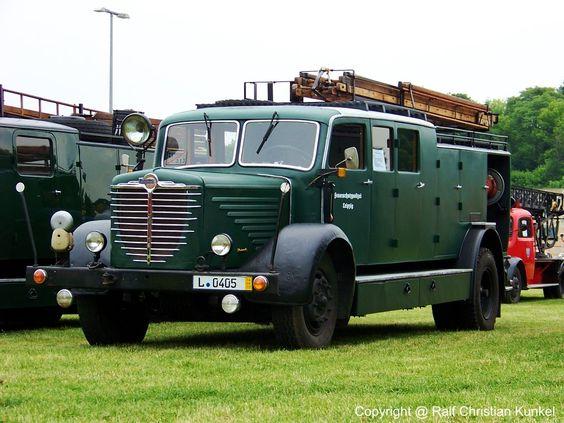 1939 Großes Löschgruppenfahrzeug GLG der Feuerschutzpolizei Leipzig auf Büssing NAG