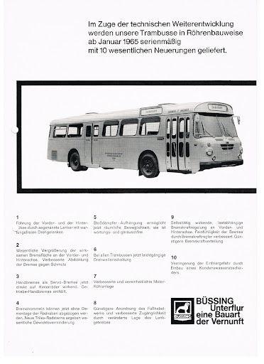 1965 Büssing Trambusse