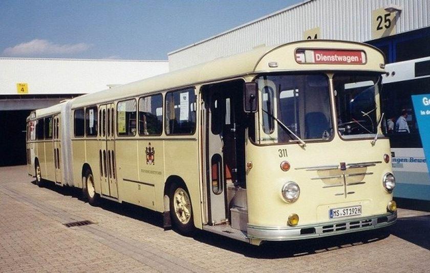 1966 Büssing-Emmelmann 14 RU 11 D Gelenkbus Stadtwerke Münster SWM