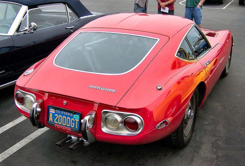 1967-70 Toyota 2000GT rear
