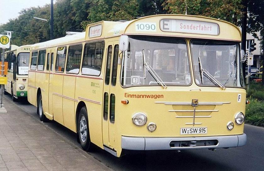 1967 Büssing Präfekt Linienbus Wuppertaler Stadtwerke WSW
