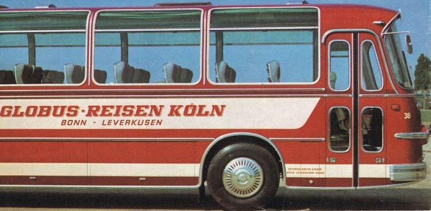 1970 BüSSING 2a Globus Reisen Bonn