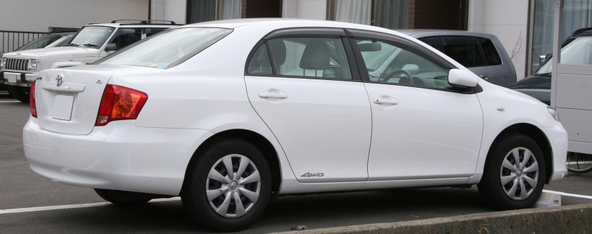 2006-2008 Toyota Corolla Axio rear