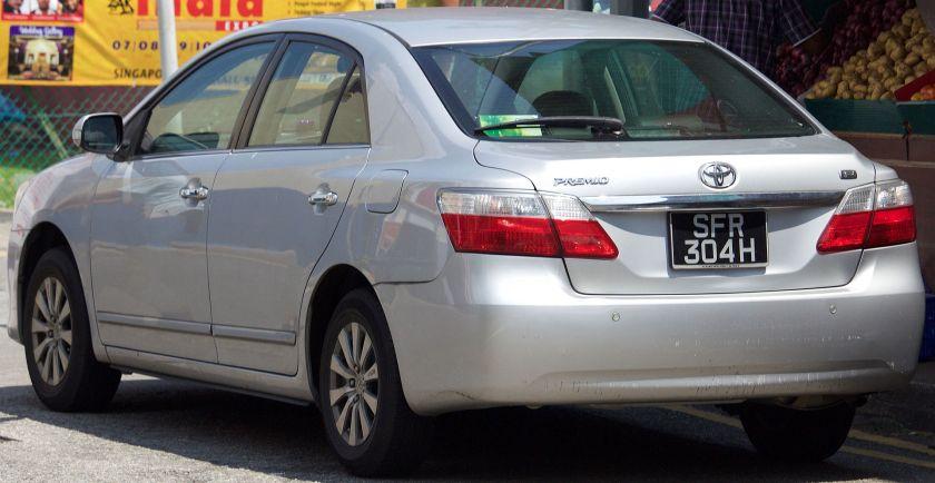2008 Toyota Premio (T260) 1.5F sedan 2007-10