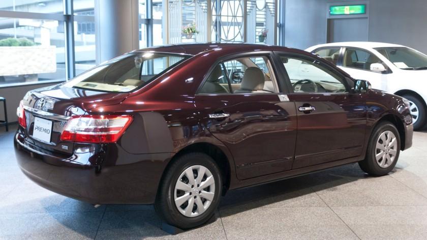 2010–present Toyota Premio rear