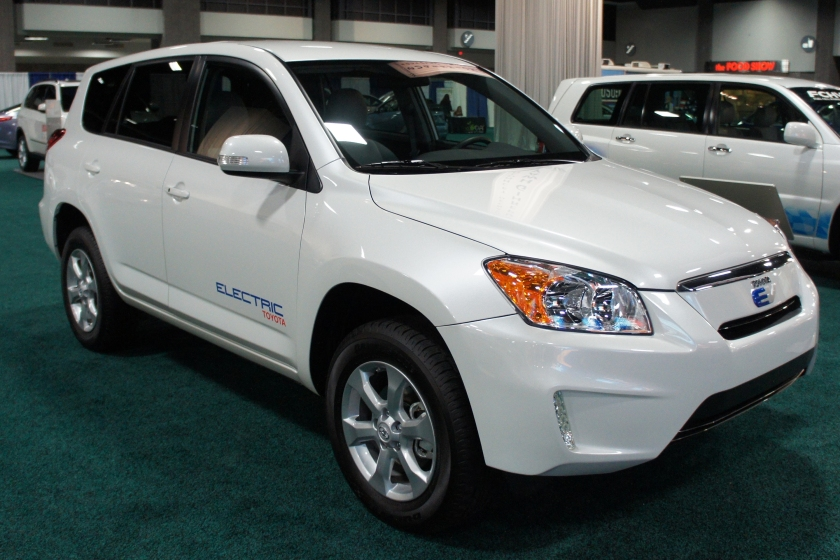 Toyota RAV4 EV demonstrator
