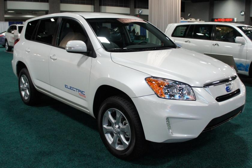 Toyota RAV4 EV demonstrator