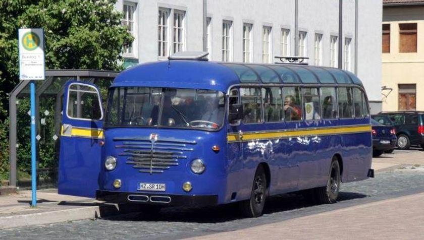 Büssing Omnibus in Originallackierung der Braunschweigischen