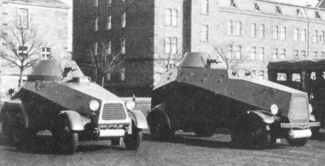 Bussing NAG [6 wheel] and Daimler L2000 armoured cars