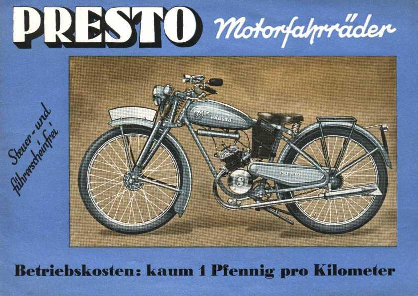 NAG-Presto Motorfahrräder werbung sportmodell 210 2
