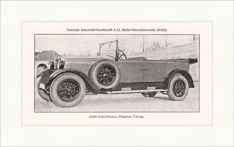 NAG Protos Phaeton 7 sitzig Nationale Automobil Gesellschaft Berlin Wolfram 018