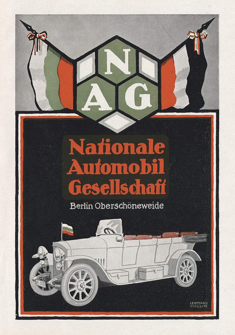 Nationale Automobil Gesellschaft NAG Berlin Coupe Plakat Braunbeck Motor A3 386