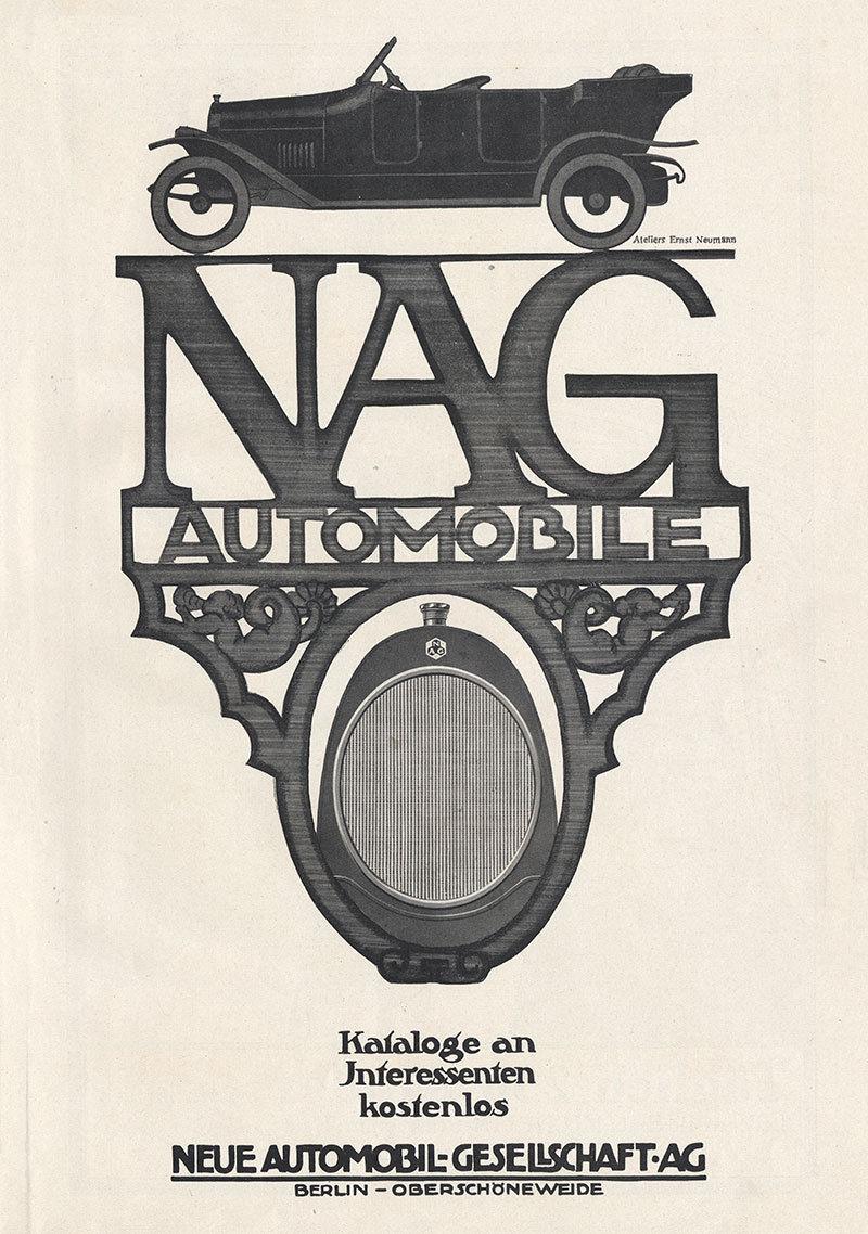Neue Automobil Gesellschaft AG NAG Berlin Oberschöneweide Plakat Motor A3 417