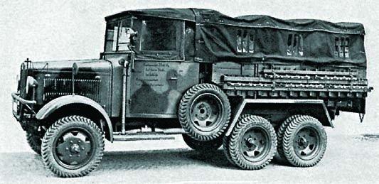 1934 Magirus М206, 6x6