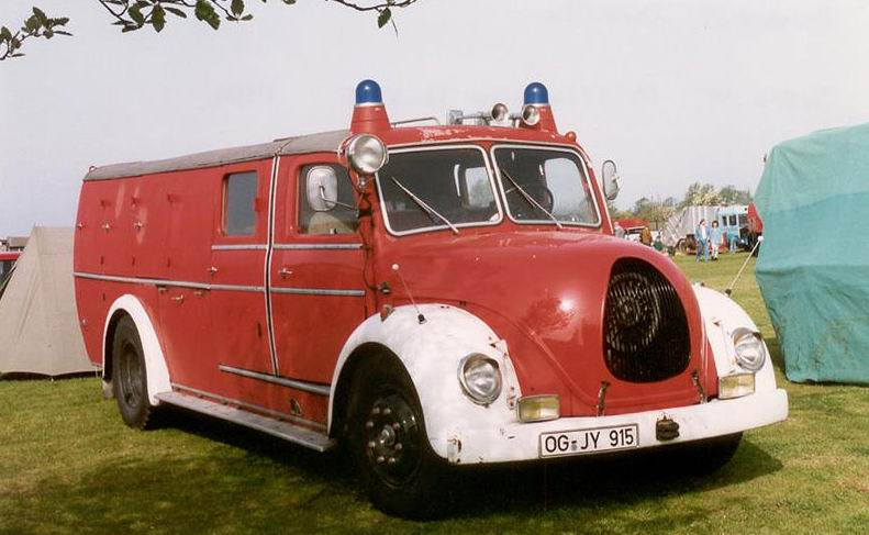 1950 Magirus Deutz. Known as The Jupiter this German truck