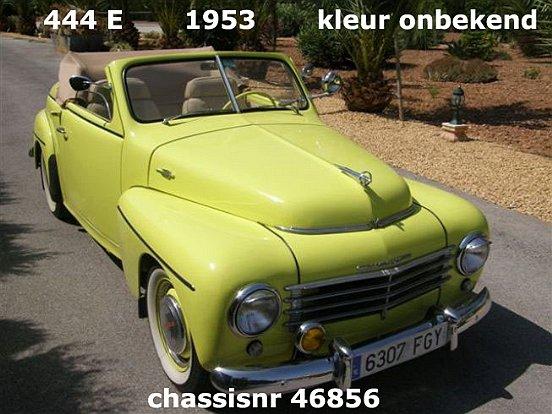 1953 Volvo 444 E katterug cabriolet