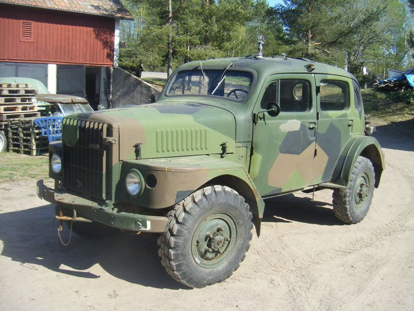 1954 Volvo TP21 M90 Camouflage