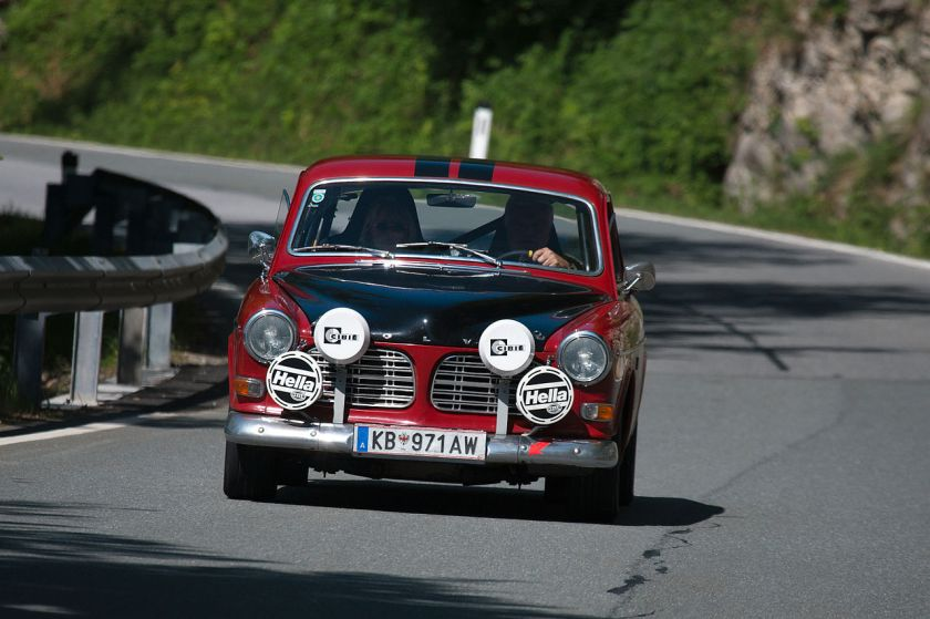 1956-70 Volvo 122S Classic Hill climb in the Alps