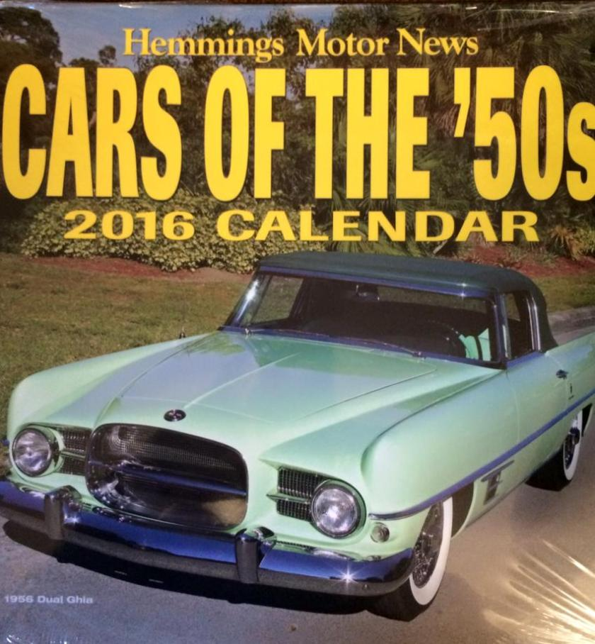 1956 Dual Ghia on Hemmings Motor News 2016 Calandar