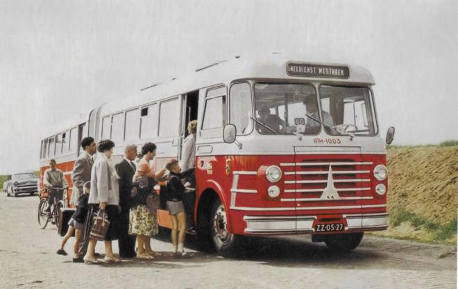 1958 Magirus type OS 550 6E Gelede bus RTM Verheul