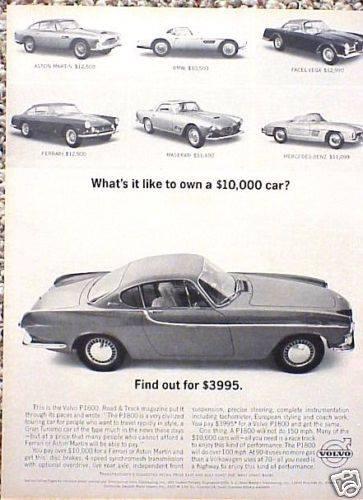 1962 Volvo P1800 ad
