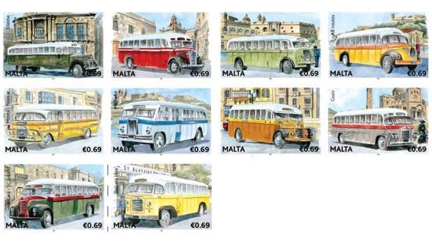 1966 Malta Postzegels Bussen