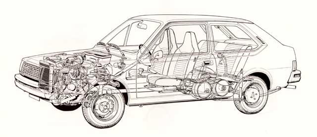 1976 volvo 343-cutaway