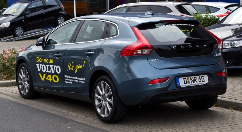 2012 Volvo V40 D2 Summum rear