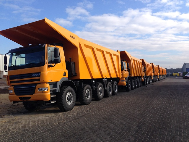 Ginaf dumpers voor China