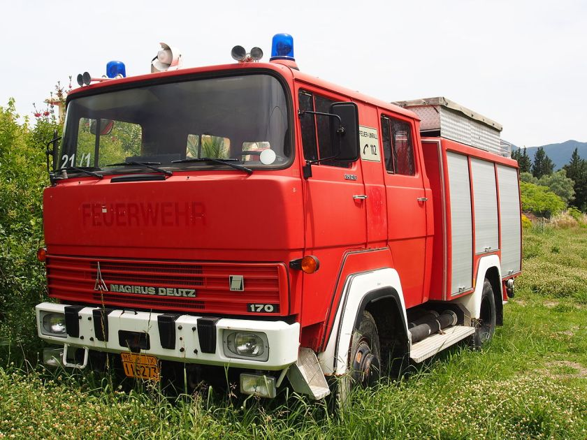 Magirus Deutz 170 fire engine TLF 16 dumped Vasiliki, Greece,1