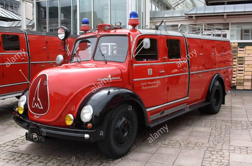 magirus deutz fire engine vintage car fire fighting exhibition