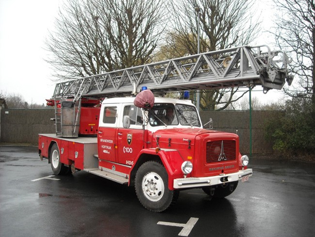 Magirus Deutz Turntable ladder FB Kortrijk
