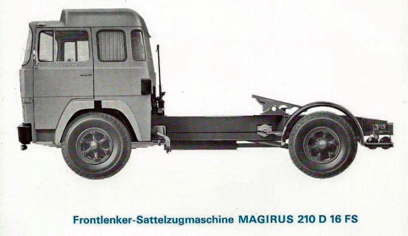 Magirus-Frontlenker-Sattelzugmachine 210 D 16 FS