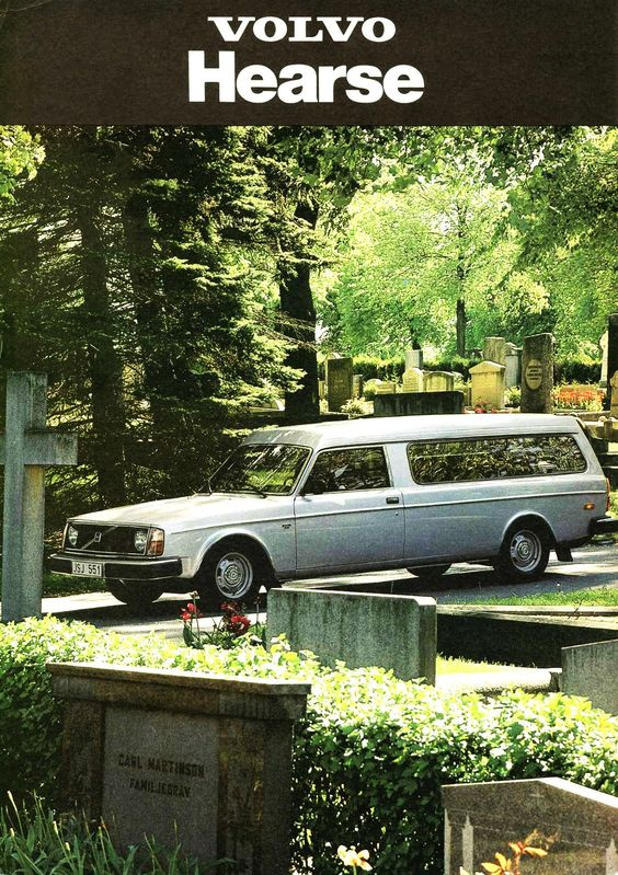 Volvo 264 Hearse White ad