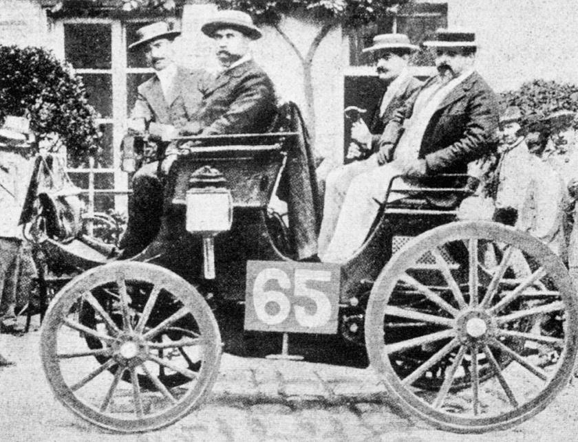 1894 paris-rouen - albert lemaître (peugeot 3hp) 1st