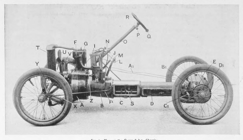 1904 Rover 8 chassis elevation