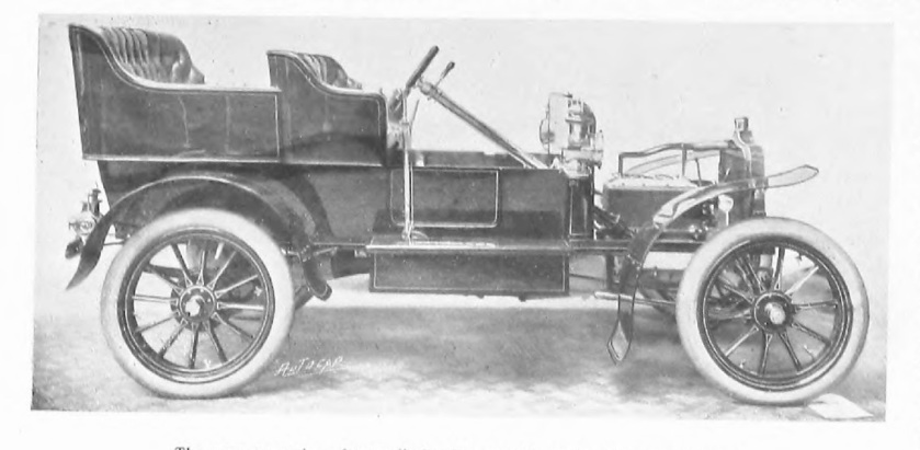 1905 Rover 10-12hp 4-cylinder car without engine bonnet