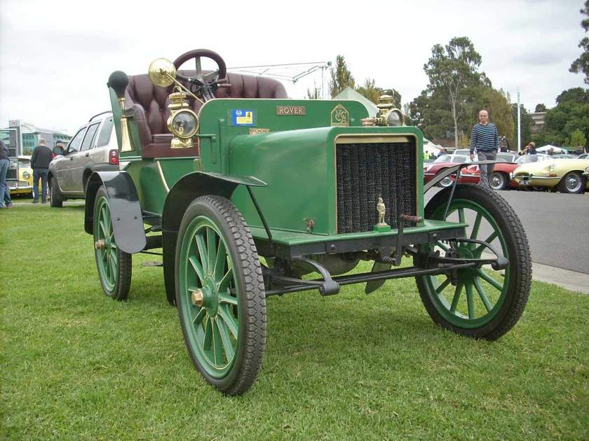 1905 Rover 6 hp open 2-seater single-cylinder 780 cc