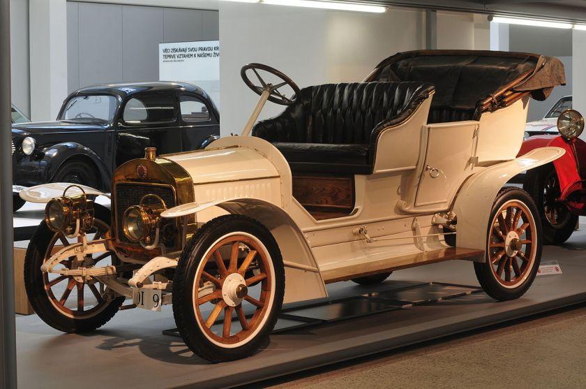 1908-09 Laurin & Klement G (GR4) v muzeu Škoda