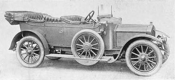 1911 Rover 12hp 4-seater torpedo sleeve-valve 1910-1912