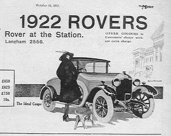 1922 rover ad